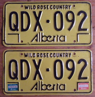 "ALBERTA 1982-83, ""Q"" LETTER LATE ISSUE BASEPLATE"