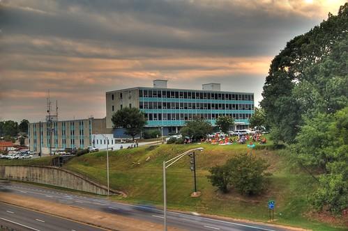 sunset nikond50 hdr gadsdenalabama gadsdencityhall