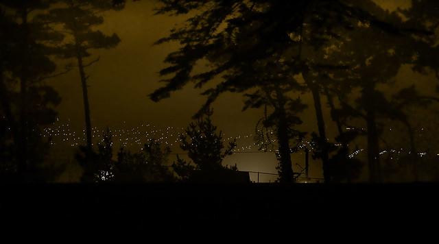 Sunset, SF POV The Richmond's Lincoln Golf Course, night.  San Francisco (2008)