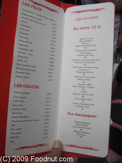 Le comptoir du relais saint germain paris france menu - Le comptoir du relais restaurant menu ...