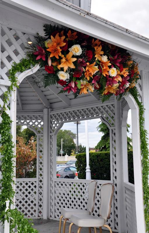 wedding flowers gazebo