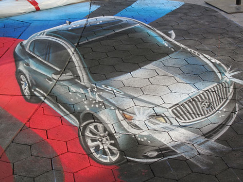 3d Buick LaCrosse street painting - tracy lee stum