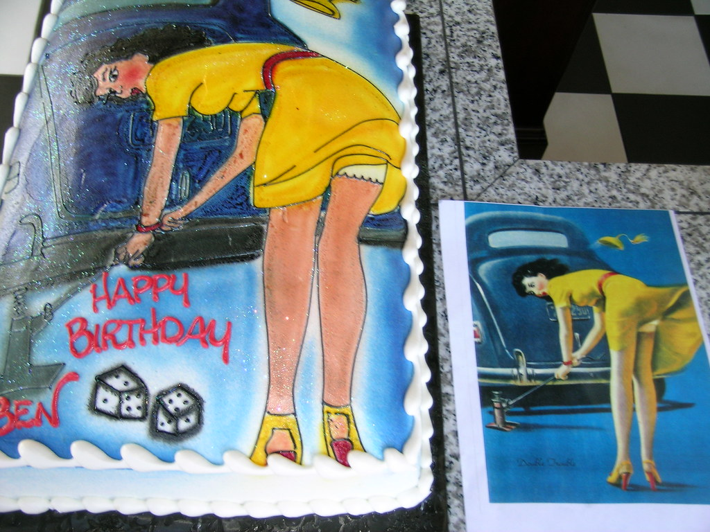 Miraculous Pin Up Girl Cake Andrea Moreno Flickr Funny Birthday Cards Online Sheoxdamsfinfo