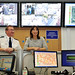 David and Samantha Cameron visit  the Police Command Centre in Manchester