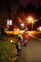walking home from trick or treating    MG 7623