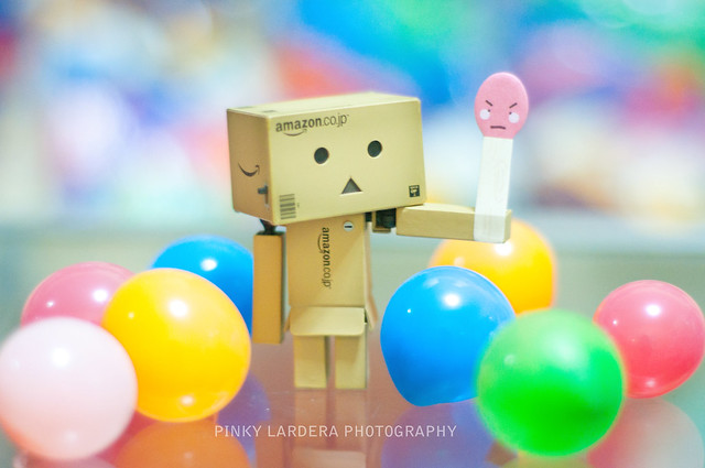 Funny Danbo And Balloons Janilyn Pinky Lardera