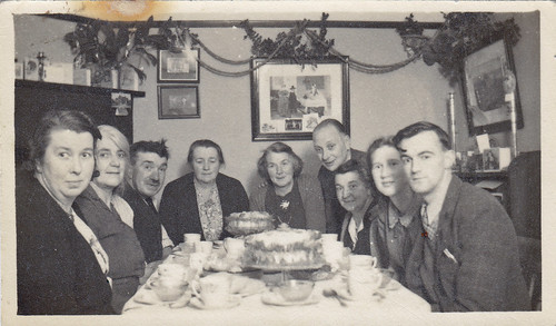 Christmas 1948. Tea and cake.