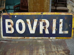 Old Type Bovril Advertising Sign