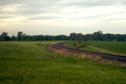 turn train illinois tracks il amtrak cameron southernchief