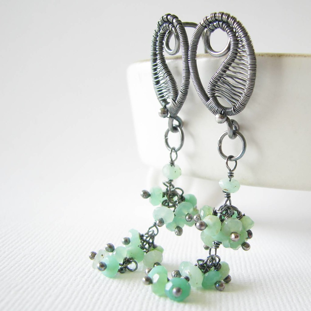Sneak peak!! Absinthe earrings