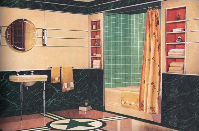 1930s bathroom a gallery on flickr. Black Bedroom Furniture Sets. Home Design Ideas