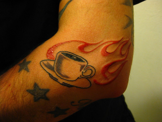 flaming coffee tattoo | Flickr - Photo Sharing!