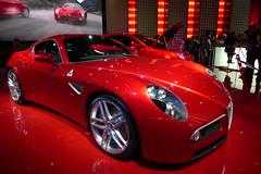 ferrari california(0.0), automobile(1.0), vehicle(1.0), performance car(1.0), automotive design(1.0), alfa romeo 8c(1.0), auto show(1.0), alfa romeo 8c competizione(1.0), land vehicle(1.0), supercar(1.0), sports car(1.0),