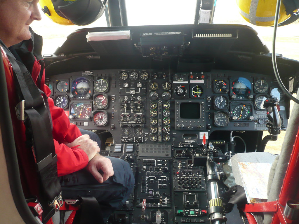 Coastguard Helicopter - Cockpit