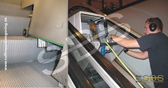 Step by Step Escalator Cleaning System by SFS Industriell Rengöring