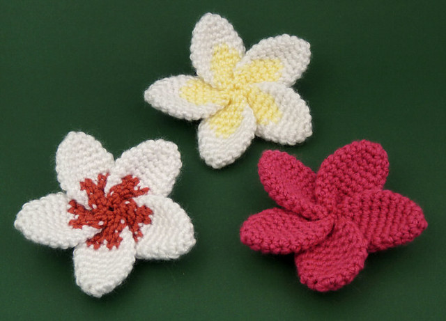 Crochet Hair Flowers : crocheted plumeria flowers Flickr - Photo Sharing!