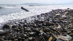 sea, pollution, shore, coast, rock,