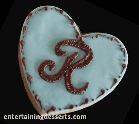 Embroidered Monogrammed Cookie