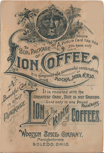 Vintage Lion Coffee Ad