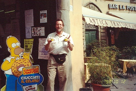 Mike & Homer in Cortona