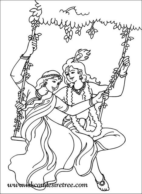 Colouring Krishna Poster ISKCON