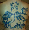 Blue willow china pattern tattoo I'm just two