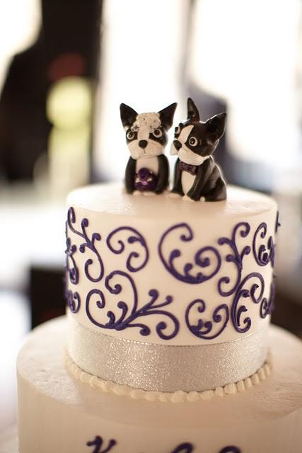 Boston Terrier Wedding Cake Topper