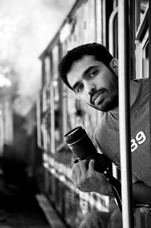 Chandru in action @ Ooty toy train...