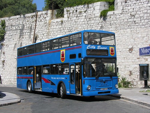 City Buses, Gibraltar: G6017A MAN H--D at Casemates Square bus terminal on Route 9 to the Frontier.