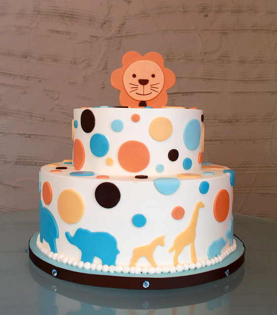 safari dot baby shower cake flickr photo sharing