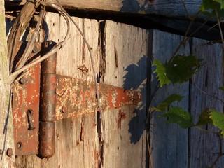 Hinge on Old Barn