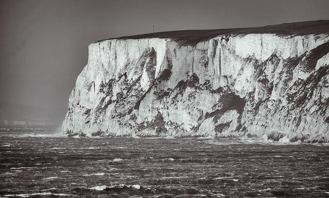 Storm Doris off the coast of Freshwater, Isle of Wight, UK