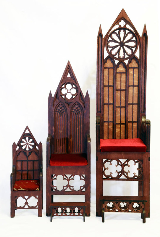 Gothic throne m03 mini & Gothic throne m01& Gothic throne m02