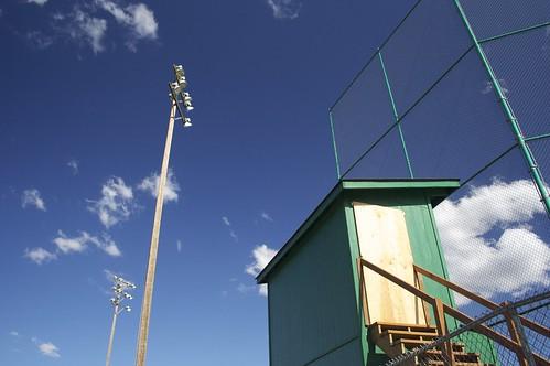 Baseball diamond sky