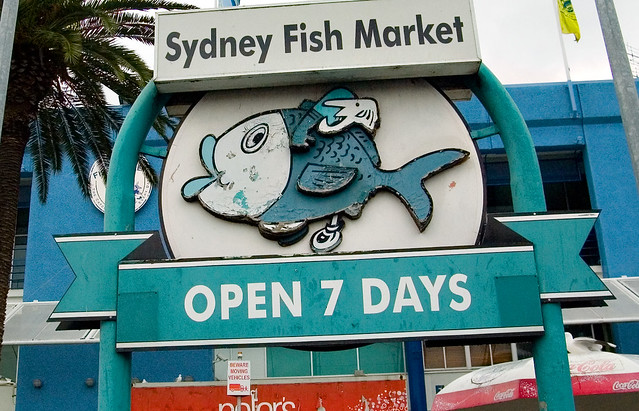 Fish market sign for Www plenty of fish sign in