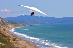 adventure, wing, cape, air sports, sports, sea, recreation, glider, outdoor recreation, windsports, wind, hang gliding, gliding, coast, flight,