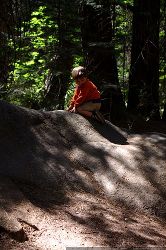 baby bouldering enroute to the happy isles bus stop    MG 4044