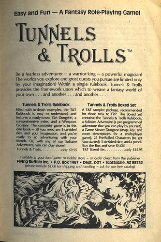 Tunnels & Trolls Ad by B_Zedan