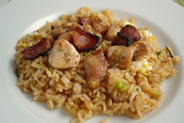 Broiled Chicken and Bacon over Egg Fried Rice | Flickr - Photo Sharing ...