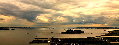 Clouds decending on Lady Liberty