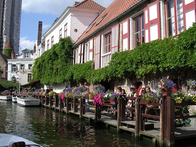 Boating by Bruges.