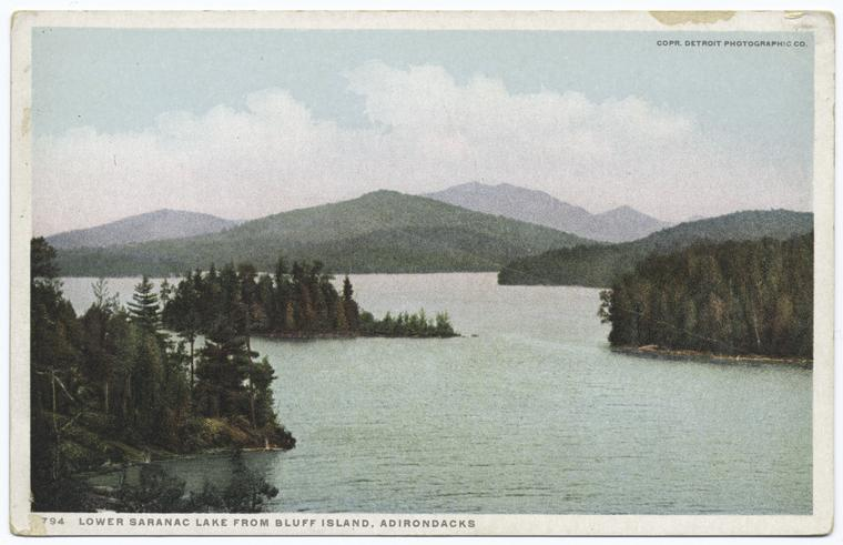 Lower Saranac Lake from Bluff Island, Adirondacks