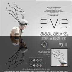 E.V.E ETHEREAL Pearls and Ribbons Tiara {Colors}
