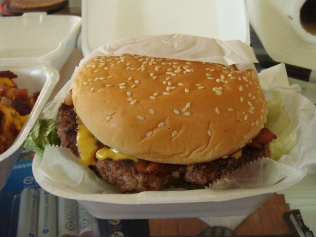 bacon cheeseburger @ Stanton's | Flickr - Photo Sharing!