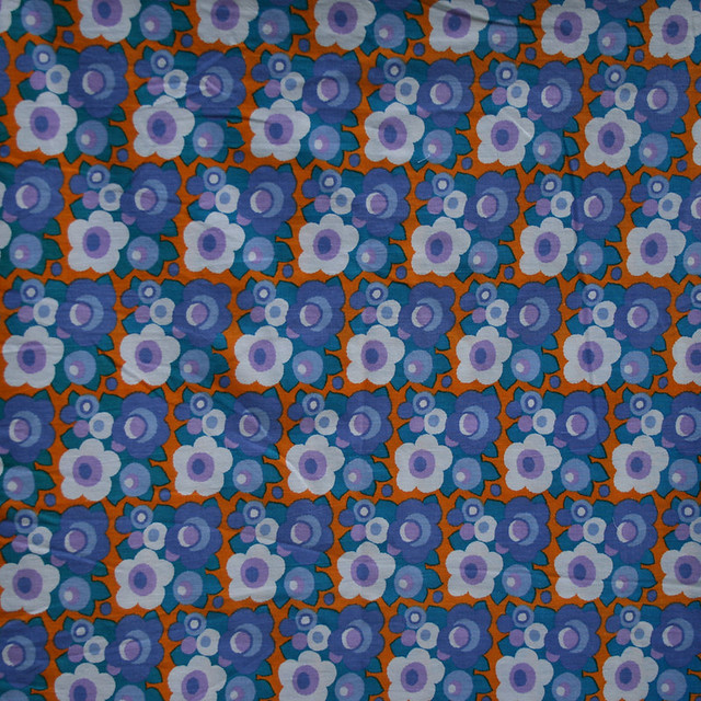 1970's Dekoplus Bright Flower Vintage Fabric