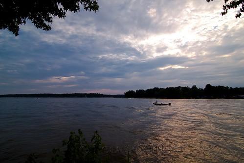 sunset lake water clouds boat nc fishing fisherman northcarolina highrocklake davidsoncounty southmont tokinaatx116prodx