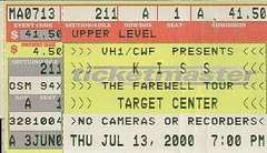 07/13/00 Kiss/Ted Nugent/Skid Row @ Minneapolis, MN (Ticket)