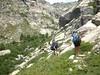 Montée à Bocca A Soglia : le contournement par la gauche des escarpements rocheux