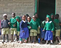 En flok unger på Githabai Primary School