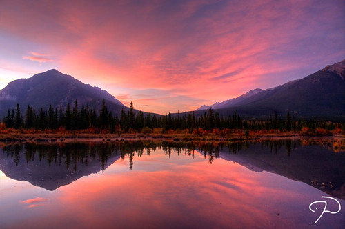 Vermillion Lakes Sunrise 02 HDR